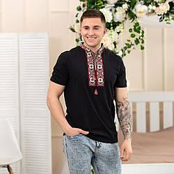 Трикотажная  футболка с вышивкой