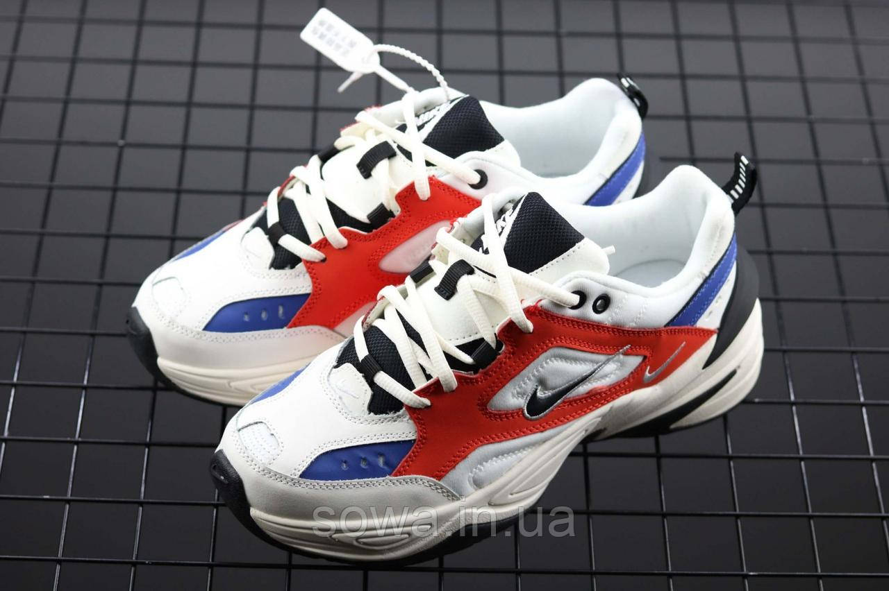 "✔️ Кроссовки Nike M2K Tekno ""White/Blue/Red"""