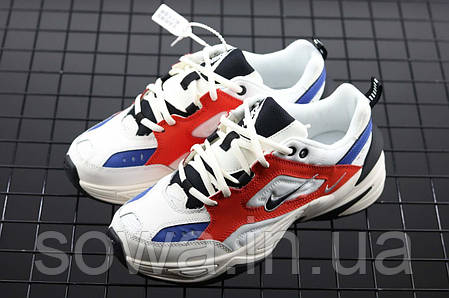 "✔️ Кроссовки Nike M2K Tekno ""White/Blue/Red"" , фото 2"
