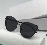 Солнцезащитные женские очки лисички в стиле Jimmy Choo 2019 черные