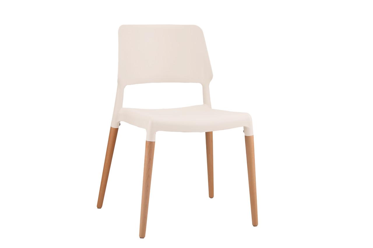 Пластиковый стул 8086 Summer белый от Kashtan, буковые ножки