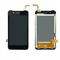Дисплей (Экран) HTC 210 Desire Dual Sim с тачскрином/ сенсором (Модуль) чёрный