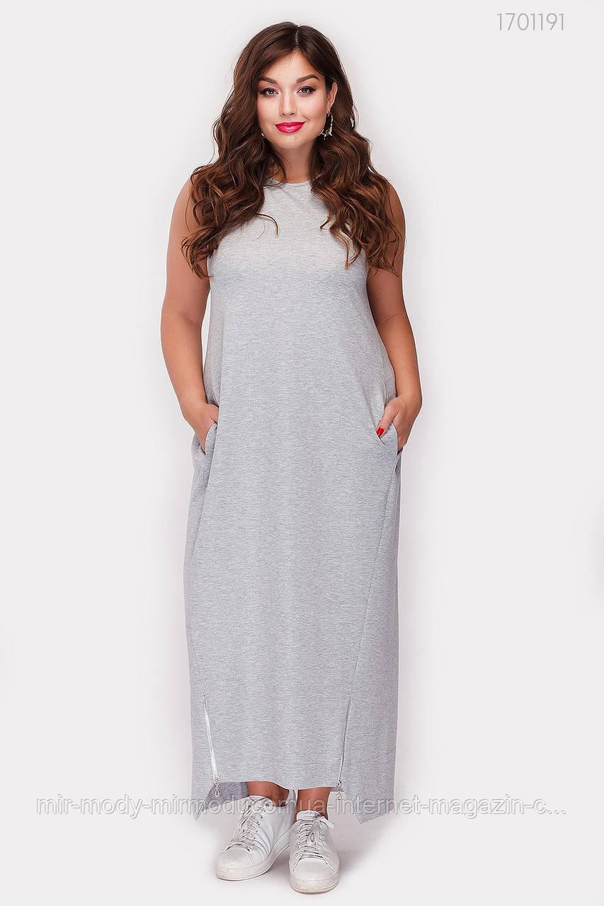 Платье Мелроуз - 1 (серый ) 3 цвета с  50 по 56 размер (рин)