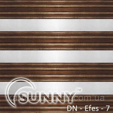 Рулонные шторы для окон Sunny в системе День Ночь, ткань DN-Efes