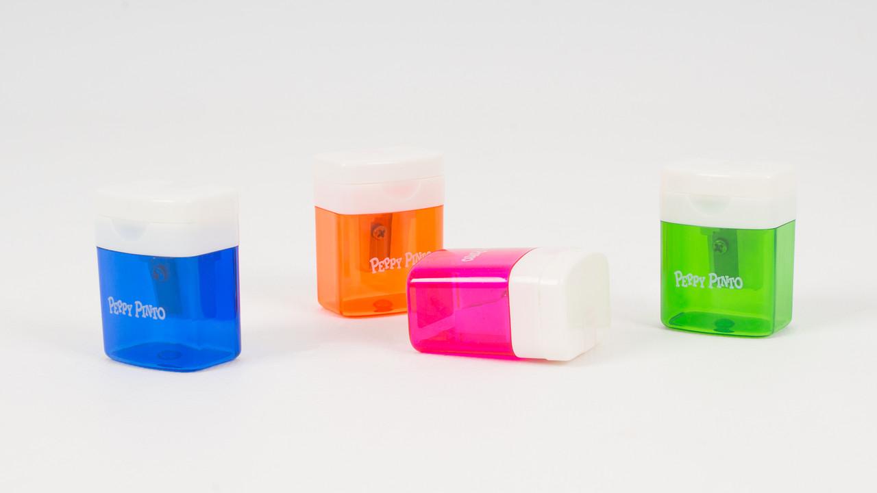 Пластиковая точилка для карандашей с контейнером PEPPY PINTO