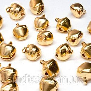 (Цена за 25шт) Бубенчики металлические бубенцы  10х8мм  Цвет -  ЗОЛОТО