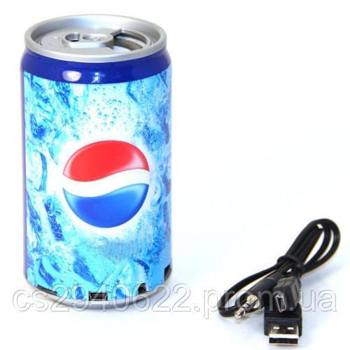 Портативная MP3 Колонка Cola Pepsi с FM Радио