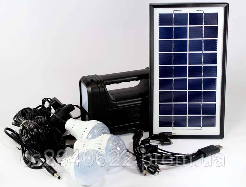 Солнечное Зарядное Устройство + Фонарь GDLITE 8017