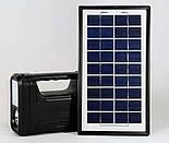 Солнечное Зарядное Устройство + Фонарь GDLITE 8017, фото 4