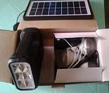 Солнечное Зарядное Устройство + Фонарь GDLITE 8017, фото 5