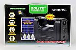 Солнечное Зарядное Устройство + Фонарь GDLITE 8017, фото 6