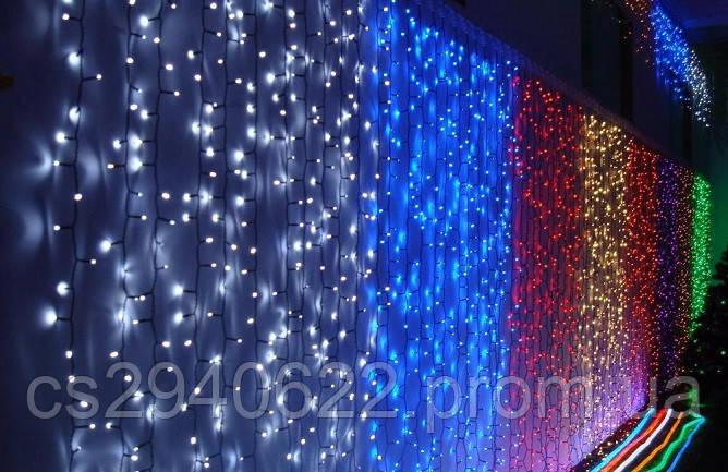Светодиодная Гирлянда Водопад Новогодняя 240 LED 2 х 1,5 м