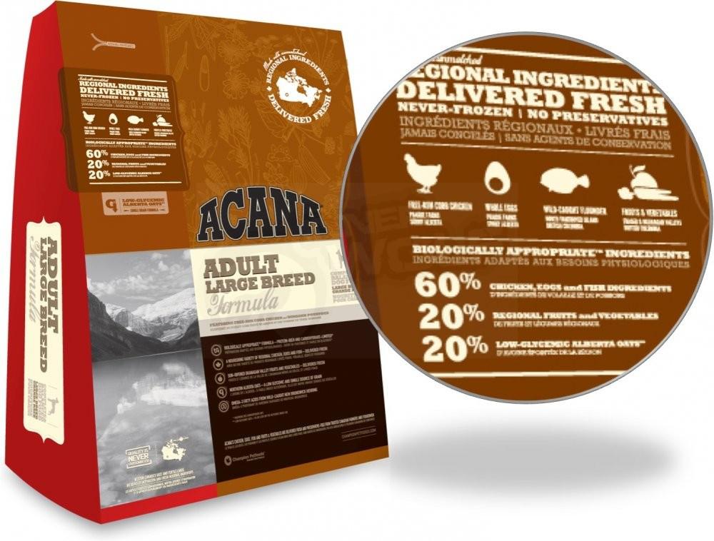 Acana ADULT LARGE BREED 11,4 кг акана для крупных пород