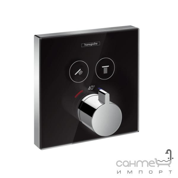 Смесители Hansgrohe Термостатический смеситель для ванны/душа Hansgrohe ShowerSelect glass 15738600