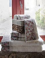 Набор полотенец Karaca Home Emily голубой.