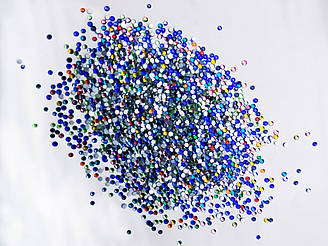 Стразы цветные SS-3 1,3мм(стекло) 100 штук