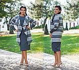 Красивый женский комплект платье+кардиган 50-56р. , фото 3
