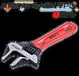 Ключ разводной с тонкими губками укороченный 120мм, 0-24мм CrV Ultra (4100212), фото 2