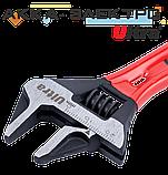 Ключ разводной с тонкими губками укороченный 120мм, 0-24мм CrV Ultra (4100212), фото 3