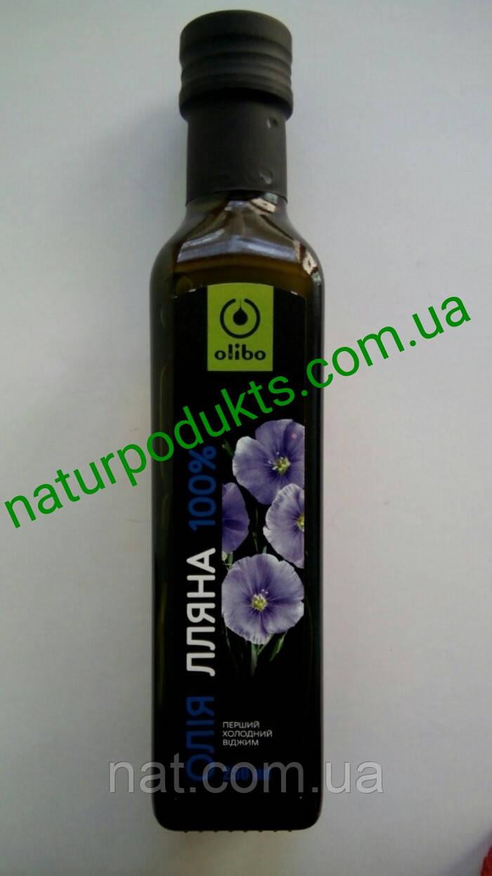 "Масло льняное 100% сыродавленное ТМ ""Eco Oliva"" (оно же Olibo, Rich oil), 250 мл"