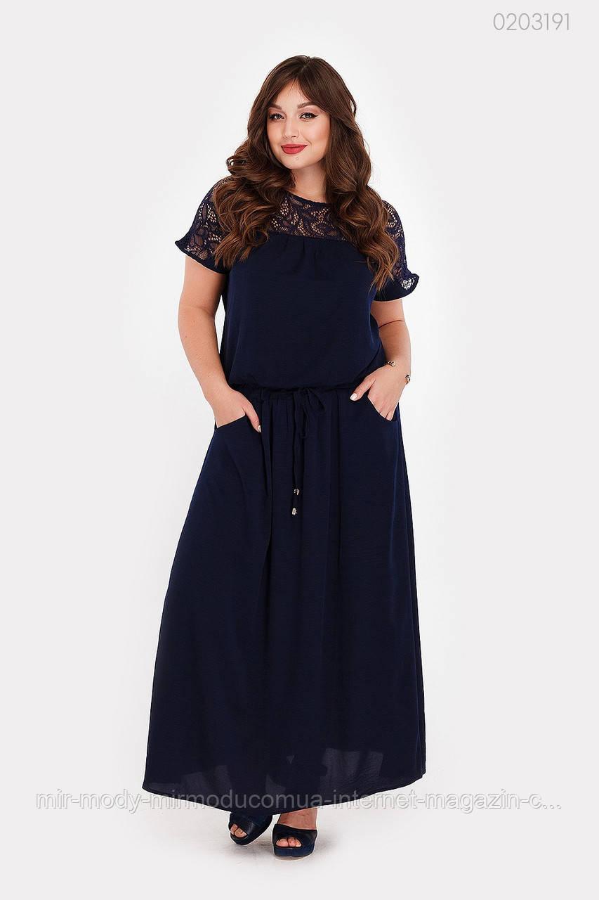 Платье Верона (синий) 2 цвета с  50 по 56 размер (рин)