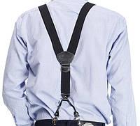 Мужские черные подтяжки Paolo Udini отличный подарок, фото 1