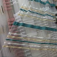 Тюль на основе фатина с радугой рулоном