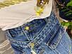 Женские джинсовые юбка-шорты на пуговицах с рваными краями, фото 10