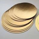 Подложка круг 22 см.диаметр.Золото ,серебро 1 шт.