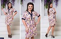 Женское платье цветы,платье с коротким рукавом , фото 1