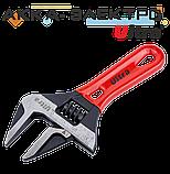 Ключ разводной с тонкими губками укороченный 140мм, 0-34мм CrV Ultra (4100222), фото 3