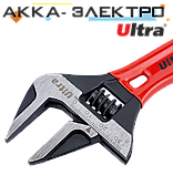 Ключ разводной с тонкими губками укороченный 140мм, 0-34мм CrV Ultra (4100222), фото 2