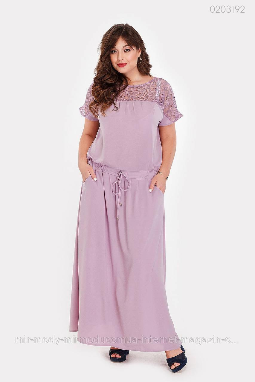 Платье Верона (сиреневый) 2 цвета с  50 по 56 размер (рин)