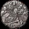 Вікінги ~ Срібна монета з високим рельєфом та NFC чіпом для перегляду панорамної 3D віртуальної реальності