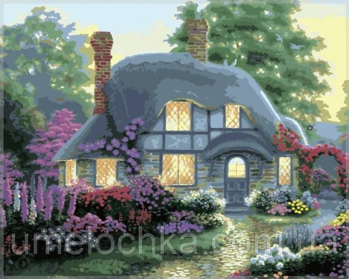 Картина по номерам Идейка Дом цветочной феи KH300