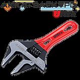 Ключ разводной с тонкими губками укороченный 190мм, 0-46мм CrV Ultra (4100242), фото 2