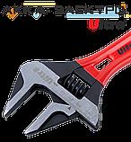 Ключ разводной с тонкими губками укороченный 190мм, 0-46мм CrV Ultra (4100242), фото 3