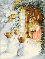 Картина по номерам Идейка Рождественские калядки KH302