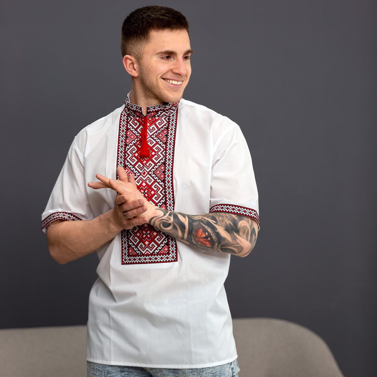 Вышиванка мужская короткий рукав - катон