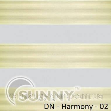 Рулонные шторы для окон Sunny в системе День Ночь, ткань  DN-Harmony