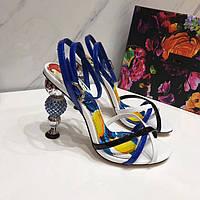 Босоножки женские Dolce&Gabbana летние открытые новая коллекция