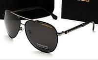 Солнцезащитные очки Porsche Design 8738 цвет черный с серебром