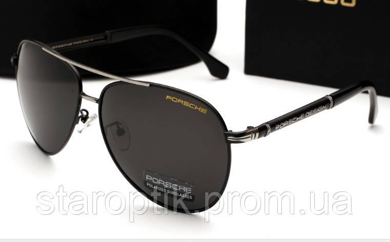Солнцезащитные очки Porsche Design 8738 цвет черный с серебром - Star Optik  в Одессе c575b340aa4
