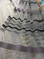 Тюль с горизонтальными полосами опт