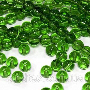 Бусины хрустальные Шар D- 6мм пачка - примерно 65шт, цвет - зеленый прозрачный