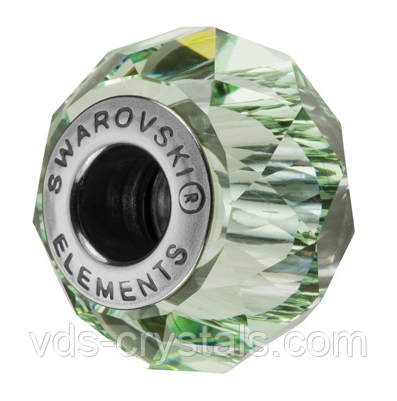 Бусины Swarovski в стиле Пандора 5948 Chrysolite (упаковка 12 шт)
