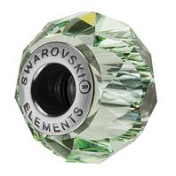 Бусины Swarovski в стиле Пандора 5948 Chrysolite (упаковка 12 шт)