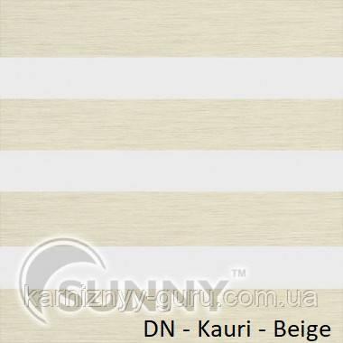 Рулонные шторы для окон Sunny в системе День Ночь, ткань DN-Kauri