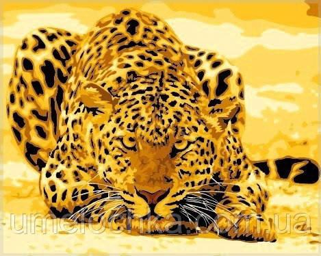 Картина по номерам Идейка Леопард (KH305)