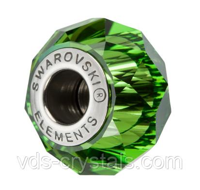 Бусины для Пандоры от Swarovski 5948 Fern Green (упаковка 12 шт)